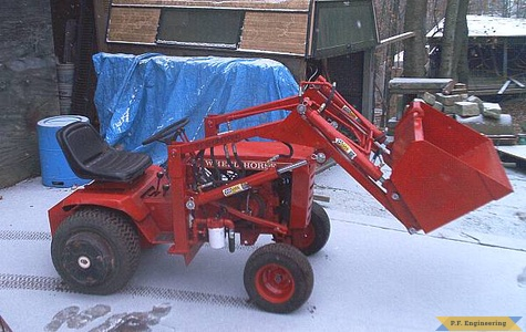 Burt T. in Hallowell, ME built this nice looking loader for his WheelHorse garden tractor 2