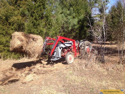 Ford 9N loader with bale spear