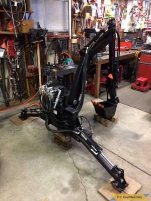 Kubota BX2200 micro hoe finished by Mark J.