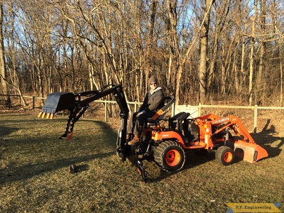 Kubota BX2200 micro hoe with thumb by Mark J.