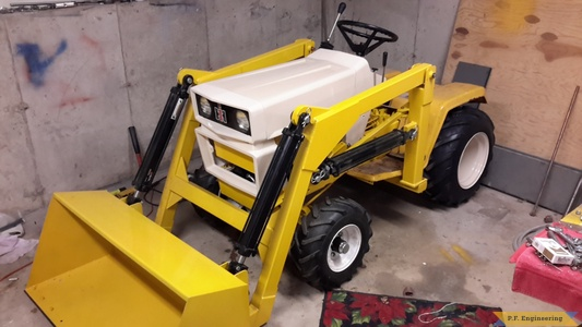 Mike D. Wallingford, CT cub cadet 1450 with loader
