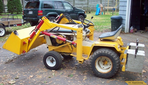 cub cadet 149 loader side