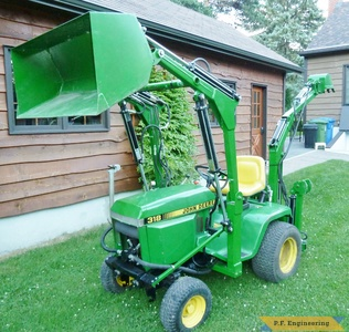 John Deere 318 Front End Loader Micro Hoe by Walter K., Pointe Claire, Quebec, CN