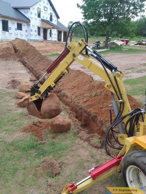Jesse D., cub cadet1450 micro hoe trenching Coloma, WI