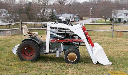 Sears Craftsman SS-12 garden tractor loader_1