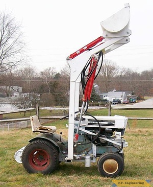 Sears Craftsman SS-12 garden tractor loader_2