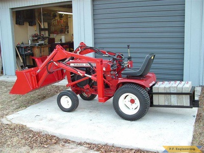 Wheel Horse 16 HP garden tractor loader _1