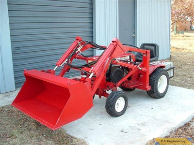 Wheel Horse 16 HP garden tractor loader _4