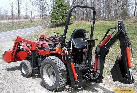 Case International 235 compact tractor Micro Hoe_1