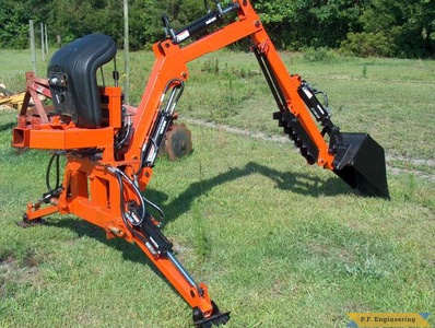 Kubota L3410 compact tractor Micro Hoe_7